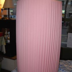Cilindro rosa plissettato
